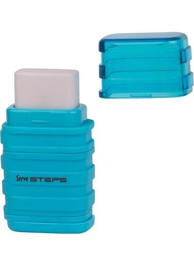 Serve Steps Sılgılı Kalemtıras Mavı Teklı Renkli